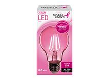 Pink LED Light Bulb Sales Promotion