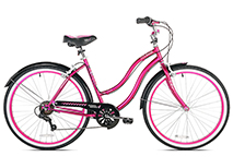 26in Ladies Multispeed Cruiser in Pink