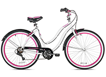 26in Ladies Multispeed Cruiser in White