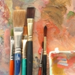 Paint brushes and supplies
